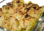 Coliflor i patata amb beixamel vegana gratinada