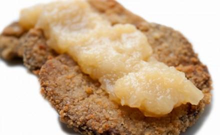 Seitan amb salsa de poma