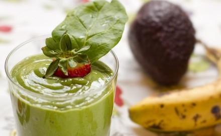 Batut de fruites i espinacs