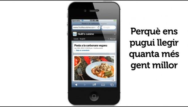 Versió mòbil de hiulit's cuisine