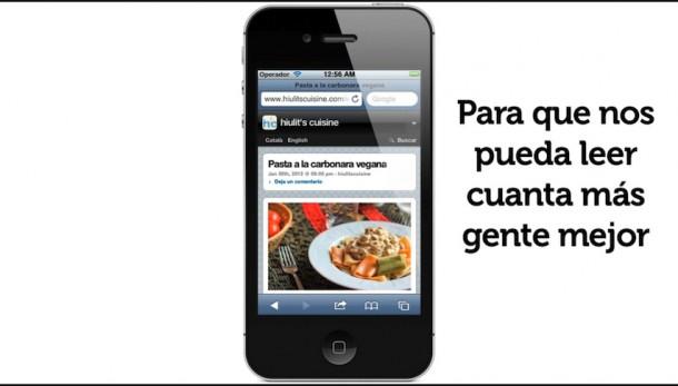 Versión móvil de hiulit's cuisine