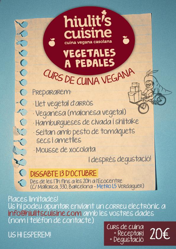 Curs de cuina vegana (hiulit's cuisine + vegetales a pedales)