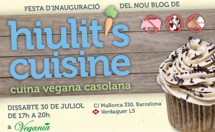 Festa d'inauguració de hiulit's cuisine - cuina vegana casolana
