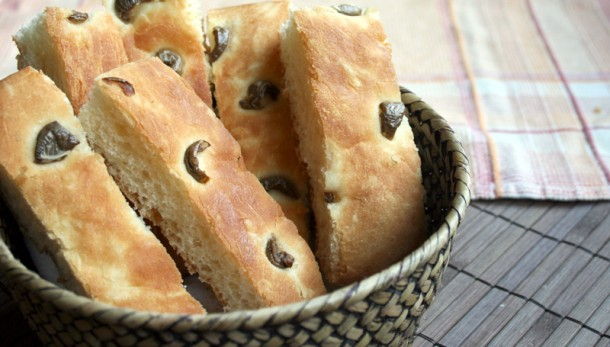 Focaccia d'olives